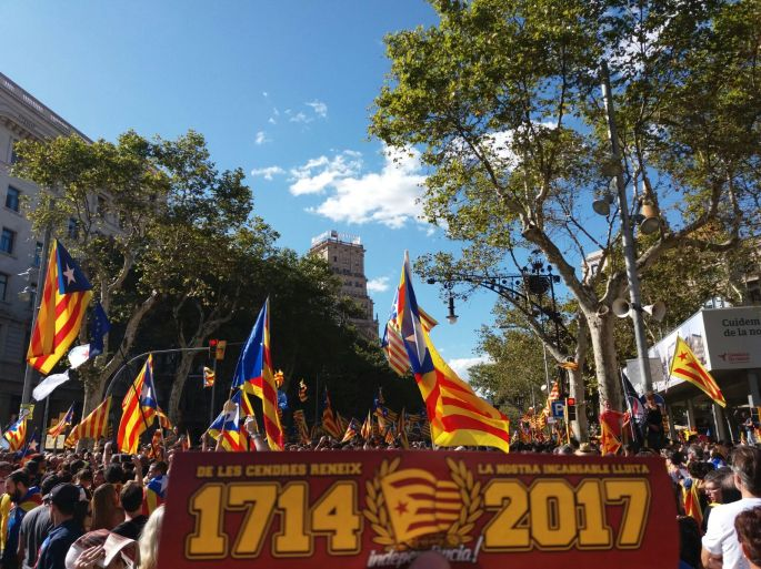 Manifestació 11 setembre 2017 Dracs 1991