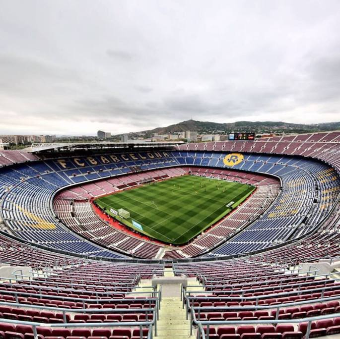 Foto Camp Nou buit, 1 octubre del 2017, referèndum Catalunya